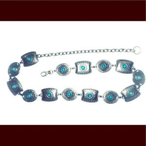 Accessories - Turquoise & Silver Southwest Belt